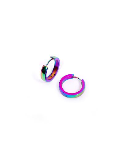 Rainbow Halka Erkek Çelik Küpe 2