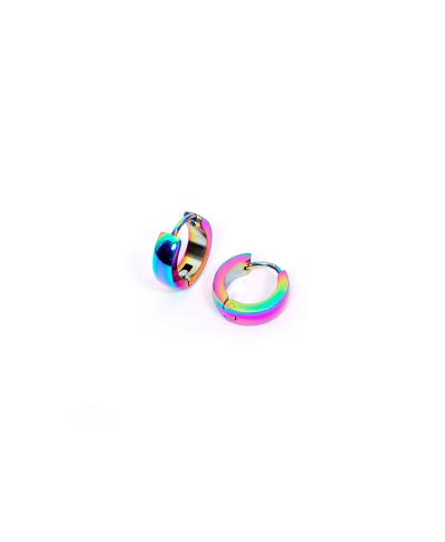 Rainbow Halka Erkek Çelik Küpe