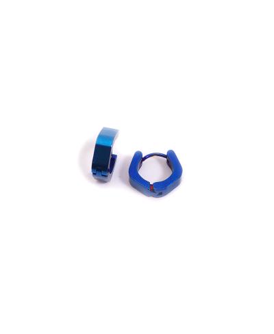 Mavi Beşgen Erkek Çelik Küpe