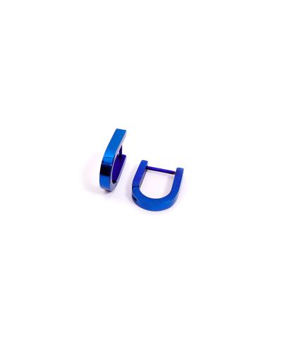 Mavi U Erkek Çelik Küpe