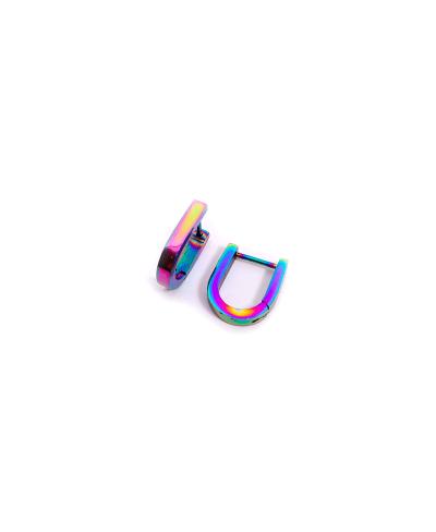 Rainbow U Erkek Çelik Küpe