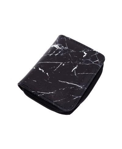 Siyah Beyaz Mermer Desenli Cüzdan