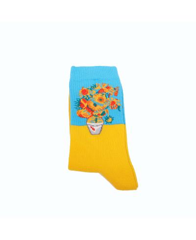 Vincent Van Gogh Sunflowers Spor Çorap