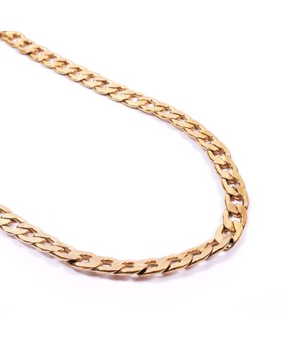 Gold İthal 316L Çelik Zincir Kolye 2