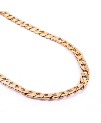 Gold İthal 316L Çelik Zincir Kolye