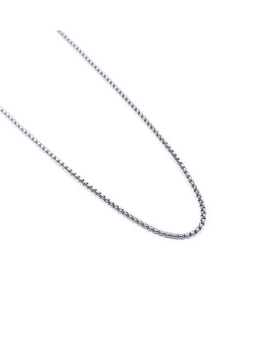 Silver İthal 316L Çelik Zincir Kolye 3