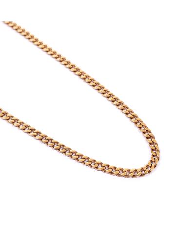 Gold İthal 316L Çelik Zincir Kolye 4