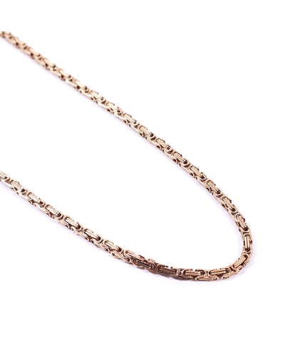Gold İthal 316L Çelik Zincir Kolye 5