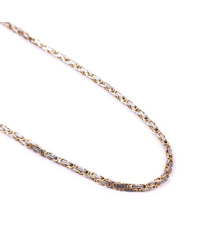Gold-Silver İthal 316L Çelik Zincir Kolye