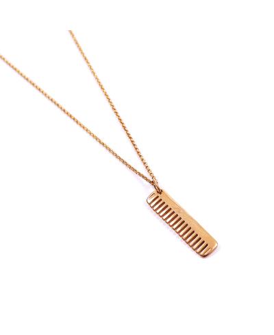 Tarak İthal 316L Çelik Gold Zincir Kolye