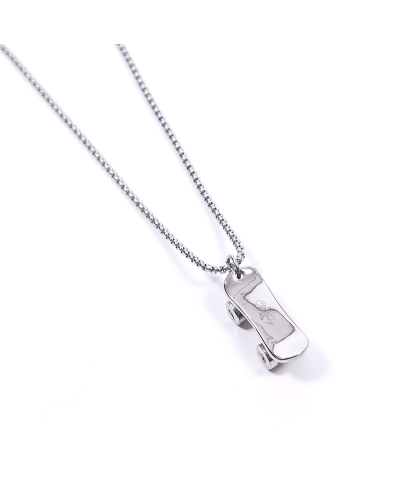 Kaykay İthal 316L Çelik Silver Zincir Kolye