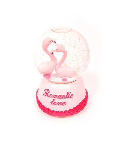 Romantic Love Flamingo Kar Küresi