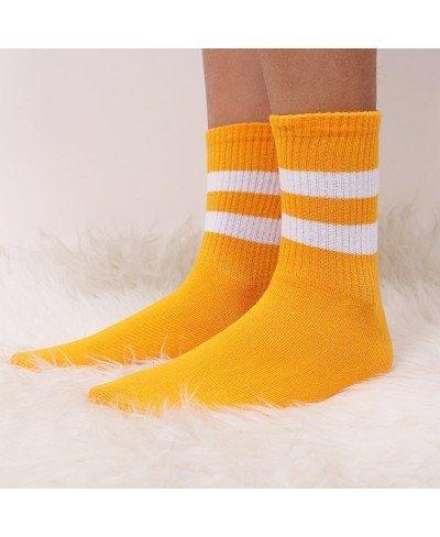 Çizgi Şeritli Spor Çorap