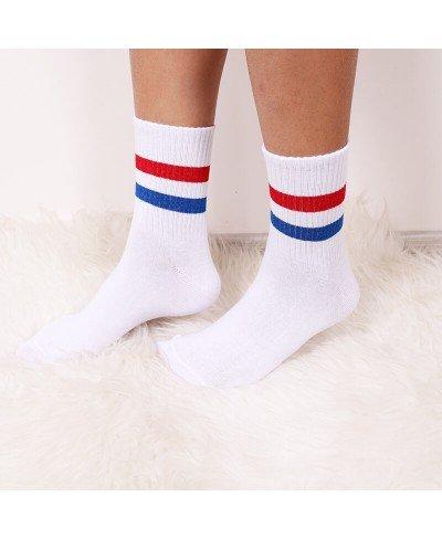 Çizgili Şerit Spor Çorap