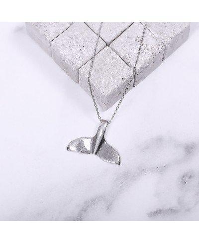 Balina Kuyruğu Gümüş Kolye
