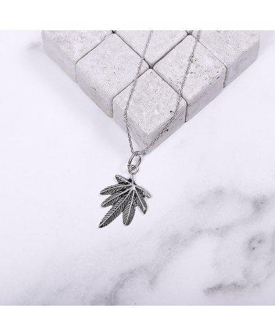 Marijuana Gümüş Kolye