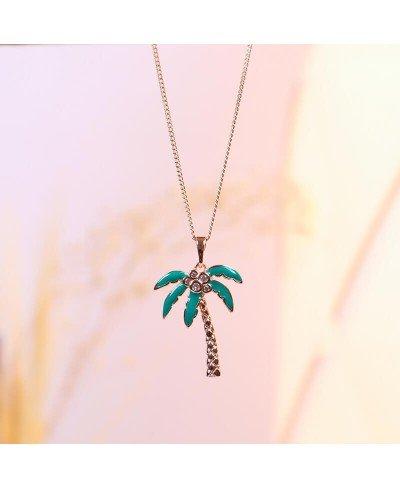 Palmiye Ağacı Rodyum Kolye