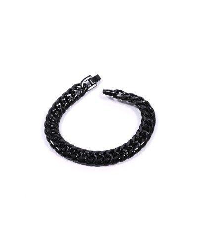 Siyah Zincir 316L Çelik Erkek Bileklik 2